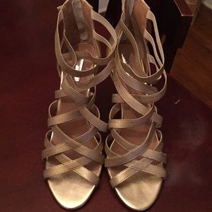 Gold Tahari heels